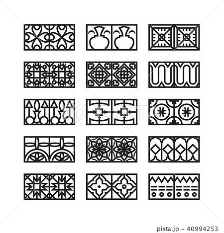 arabic ornament icon, vector set 40994253