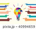 多様性とアイディアを表すカラフルな電球と手 Diversity creativity bulb 40994659