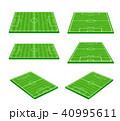 Green soccer field on white background 002 40995611