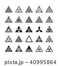 抽象的 ジオメトリック 幾何学的のイラスト 40995864