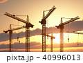 工事クレーン 建設用クレーン クレーンのイラスト 40996013