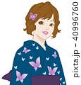 人物 女性 浴衣のイラスト 40996760