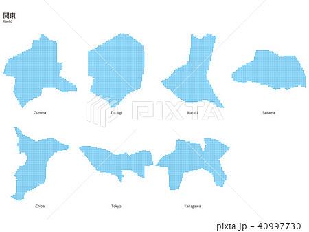 ベクター イラスト デザイン 地図 マップ 日本 関東 ドット 40997730