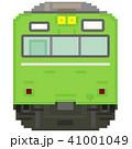 ドット絵風の通勤電車(103系高運転台ATC・黄緑色) 41001049