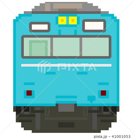 ドット絵風の通勤電車(103系高運転台ATC・青) 41001053