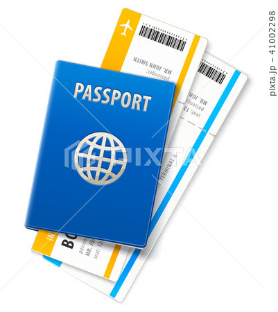 Travel documents passport and ticket 41002298