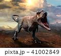 Tyrannosaurus rex scene 3D illustration 41002849