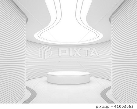 Empty white room modern space interior 3d render 41003663