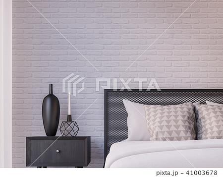 Modern loft  bedroom 3d render 41003678