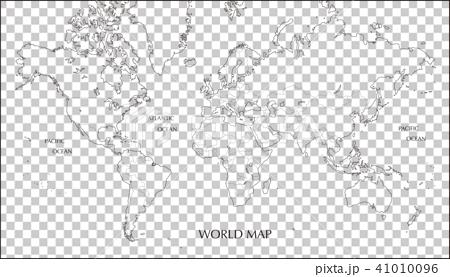 墨卡托投影世界地图 41010096