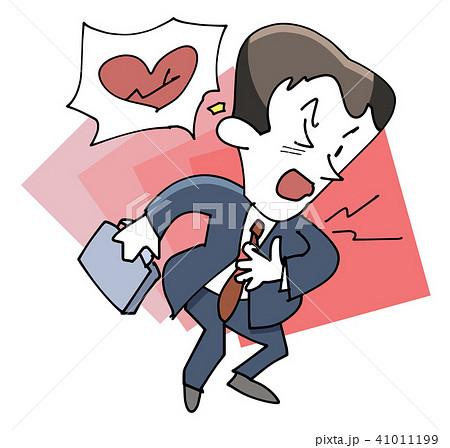 ビジネスマン-心臓の痛み 41011199