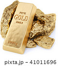 gold bullion and gold nuggets 41011696