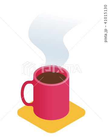 Flat isometric illustration of cup of coffee.  41015130