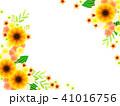 ひまわりのフレーム 41016756