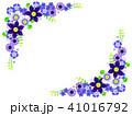 テッセンと青い花のフレーム 41016792