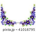 テッセンと青い花のフレーム 41016795