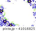 テッセンと青い花のフレーム 41016825