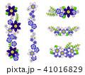 テッセンと青い花のフレーム 41016829