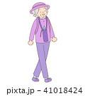人物 おばあちゃん 女性のイラスト 41018424