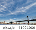 Manhattan Bridge and skyline view from Brooklyn 41021080