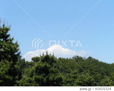 初夏の青空と白い雲 41025224