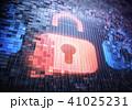 南京錠 デジタル セキュリティのイラスト 41025231