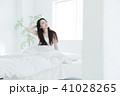 女性 若い女性 寝起きの写真 41028265