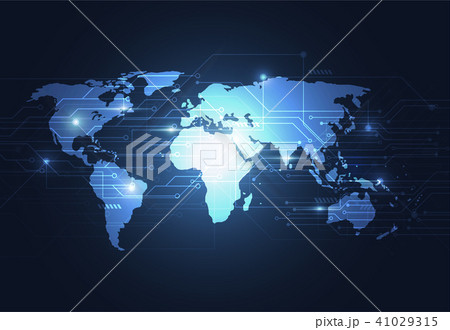 Global network connection. World map point 41029315