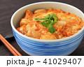 親子丼 丼物 食べ物の写真 41029407
