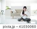 女性 携帯電話 電話の写真 41030060