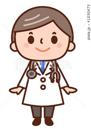 かわいいお医者さんのイラスト素材