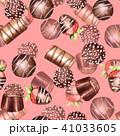 チョコレート 水彩画 イラストのイラスト 41033605