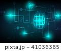 テクノロジー ベクトル 青のイラスト 41036365