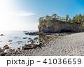 能登金剛 岩場 海岸の写真 41036659