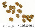 roasted coffee beans isolated on white background 41038491