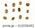 roasted coffee beans isolated on white background 41038492
