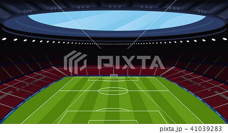A huge empty soccer stadium 41039283