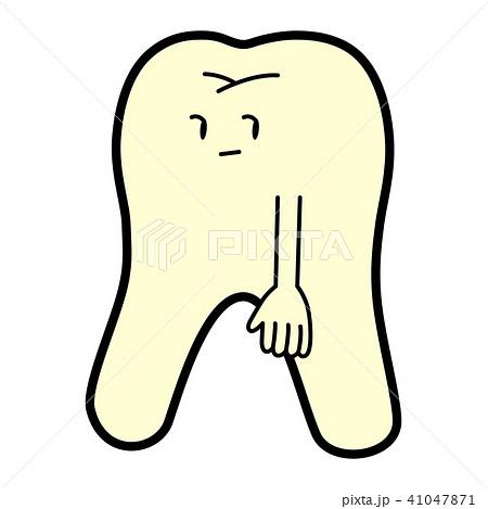 かっこいいポーズを決めるモデルの歯のイラスト素材 41047871 Pixta
