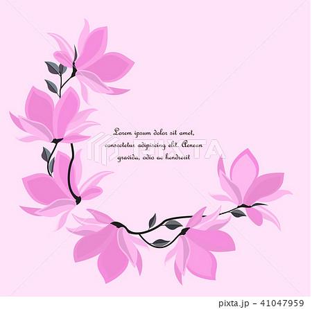 vector magnolia flowersのイラスト素材 41047959 pixta