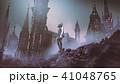 人造人間 女性 街のイラスト 41048765