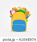 Bag, backpack icon with school accessories. Vector Illustration 41048974