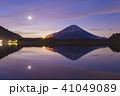 富士山 夜明け 精進湖の写真 41049089