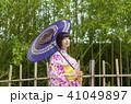 浴衣 竹林 女性の写真 41049897