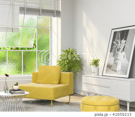 Living room interior in modern style, 3d render 41050215