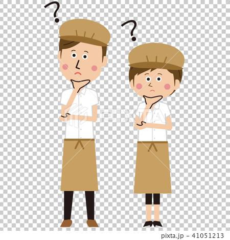 ポップなカフェ店員またはパン屋の男女ペア はてな 41051213