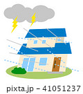 住宅 災害 台風のイラスト 41051237