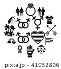 Lgbt icons set, simple style 41052806