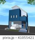 家 一戸建て 住宅のイラスト 41055421