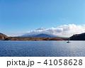 富士山 精進湖 晴れの写真 41058628