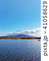 富士山 精進湖 晴れの写真 41058629
